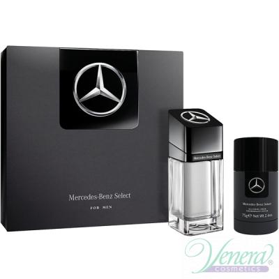 Mercedes-Benz Select Комплект (EDT 100ml + Deo Stick 75ml) за Мъже Мъжки Парфюми без опаковка