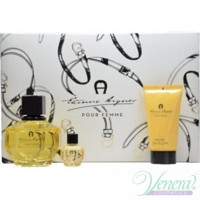 Etienne Aigner Pour Femme Комплект (EDP 100ml + EDP 6ml + BL 50ml) за Жени Дамски комплекти
