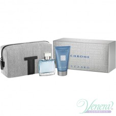 Azzaro Chrome Комплект (EDT 30ml + SG 50ml + Bag) за Мъже
