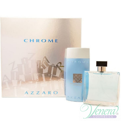 Azzaro Chrome Комплект (EDT 100ml + SG 200ml) за Мъже