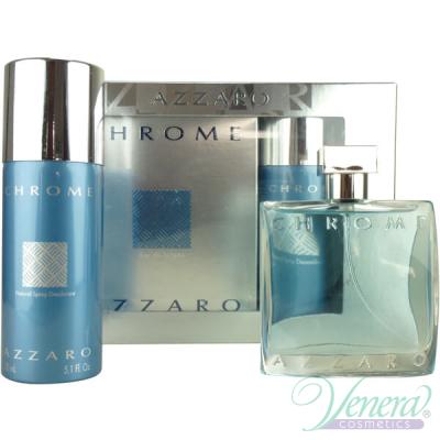 Azzaro Chrome Комплект (EDT 50ml + Deo Spray 150ml) за Мъже Мъжки Комплекти