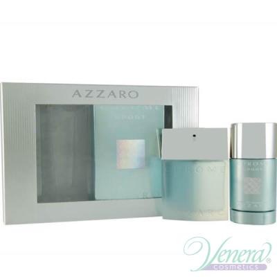 Azzaro Chrome Sport Комплект (EDT 50ml + Deo Stick 75ml) за Мъже Мъжки Парфюми