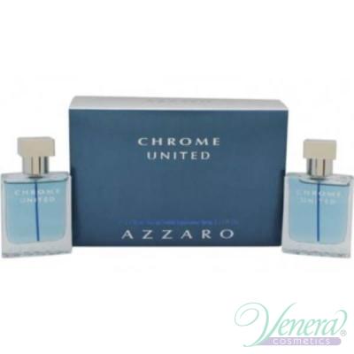 Azzaro Chrome United Комплект (EDT 30ml + EDT 30ml) за Мъже Мъжки Комплекти