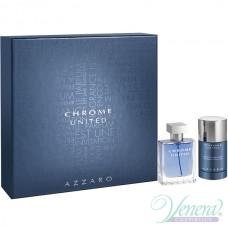 Azzaro Chrome United Комплект (EDT 50ml + Deo Stick 75ml) за Мъже