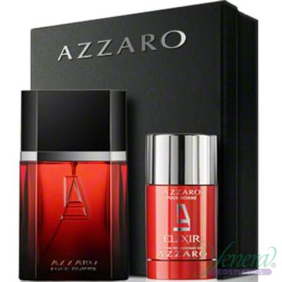 Azzaro Pour Homme Elixir Комплект (EDT 50ml + Deo Stick 75ml) за Мъже
