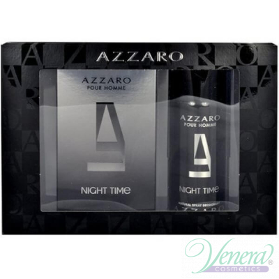 Azzaro Pour Homme Night Time Компелект (EDT 100ml + Deo Spray 150ml) за Мъже За Мъже