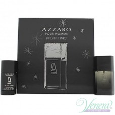 Azzaro Pour Homme Night Time Комплект (EDT 50ml + Deo Stick 75ml) за Мъже