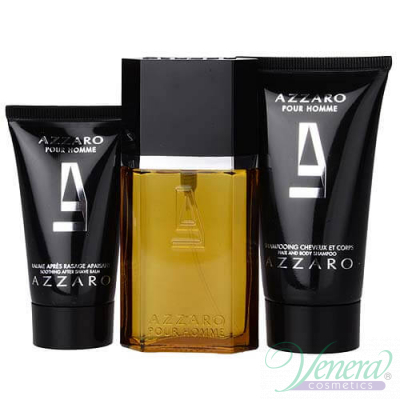 Azzaro Pour Homme Комплект (EDT 30ml + AS Balm 30ml + SG 50ml) за Мъже