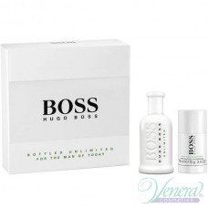 Boss Bottled Unlimited Комплект (EDT 100ml + Deo Stick 75ml) за Мъже