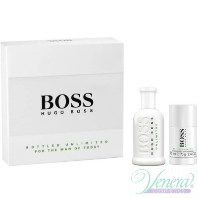 Boss Bottled Unlimited Комплект (EDT 100ml + Deo Stick 75ml) за Мъже