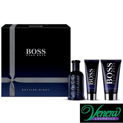Boss Bottled Night Комплект (EDT 100ml + AS Balm 75ml + SG 50ml) за Мъже За Мъже