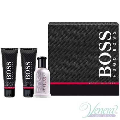 Boss Bottled Sport Комплект (EDT 50ml + AS Balm 50ml + SG 50ml) за Мъже За Мъже