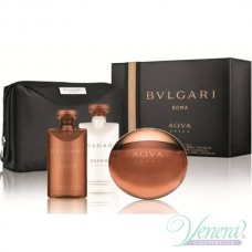 Bvlgari Aqva Amara Комплект (EDT 100ml + AS Balm 75ml + SG 75ml + Bag) за Мъже