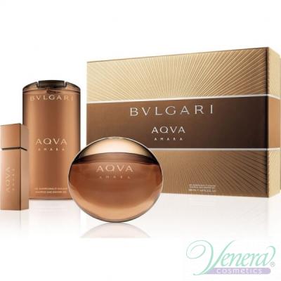 Bvlgari Aqva Amara Комплект (EDT 100ml + 15ml + SG 200ml) за Мъже Мъжки Комплекти