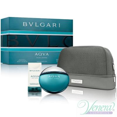 Bvlgari Aqva Pour Homme Комплект (EDT 100ml + SG 75ml + Bag) за Мъже За Мъже