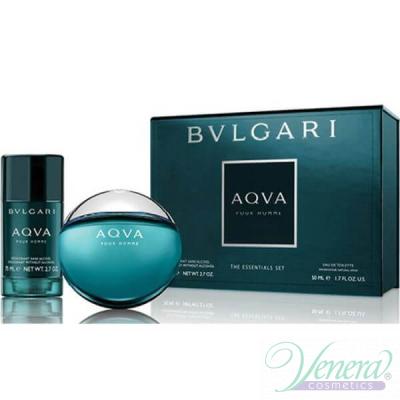 Bvlgari Aqva Pour Homme Комплект (EDT 50ml + Deo Stick 75ml) за Мъже