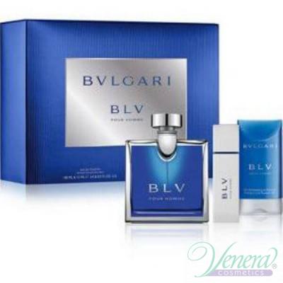 Bvlgari BLV Pour Homme Комплект (EDT 100ml + EDT 15ml + SG 75ml) за Мъже За Мъже