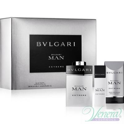 Bvlgari Man Extreme Комплект (EDT 100ml + EDT 15ml + After Shave Balm 75ml) за Мъже За Мъже
