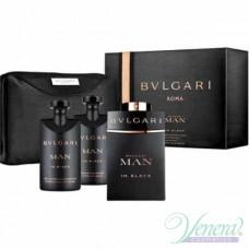 Bvlgari Man In Black Комплект (EDP 100ml + AS Balm 75ml + SG 75ml + Bag) за Мъже