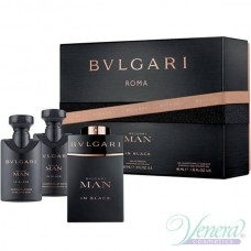 Bvlgari Man In Black Комплект (EDP 60ml + AS Balm 40ml + SG 40ml) за Мъже