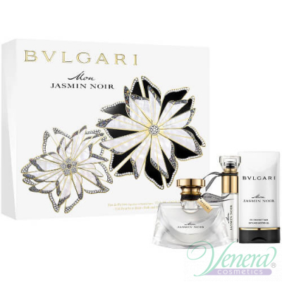 Bvlgari Mon Jasmin Noir Комплект (EDP 50ml + EDP 10ml + SG 75ml) за Жени Дамски Комплекти