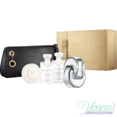 Bvlgari Omnia Crystalline Комплект (EDT 65ml + BL 40ml + SG 40ml + Soap 50g + Bag) за Жени