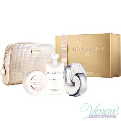 Bvlgari Omnia Crystalline Комплект (EDT 65ml + BL 75ml + Soap + Bag) За Жени
