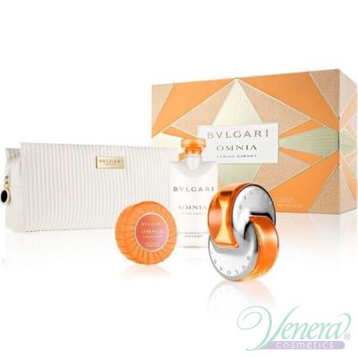 Bvlgari Omnia Indian Garnet Комплект (EDT 65ml + BL 75ml + Soap + Bag) за Жени