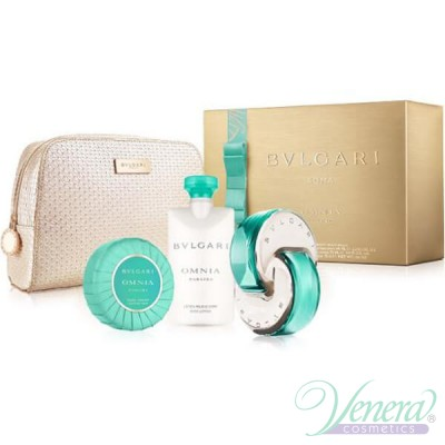 Bvlgari Omnia Paraiba Комплект (EDT 65ml+ BL 75ml + Soap 75g + Bag) за Жени