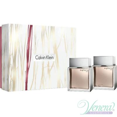 Calvin Klein Euphoria Комплект (EDT 100ml + AS Lotion 100ml) за Мъже Мъжки Комплекти
