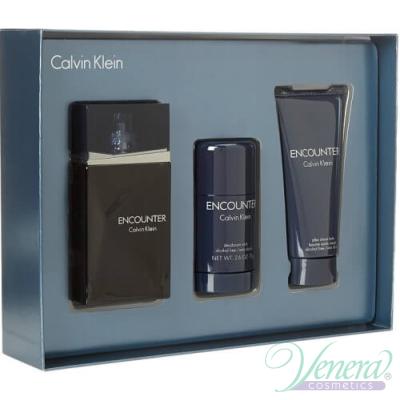 Calvin Klein Encounter Set (EDT 100ml + AS Balm 100ml + Deo Stick 75ml) за Мъже
