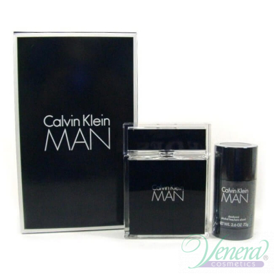 Calvin Klein Man Комплект (EDT 100ml + Deo Stick 75ml) за Мъже