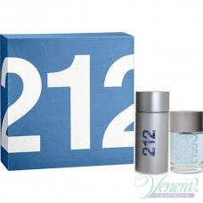Carolina Herrera 212 Комплект (EDT 100ml + After Shave Lotion 100ml) за Мъже
