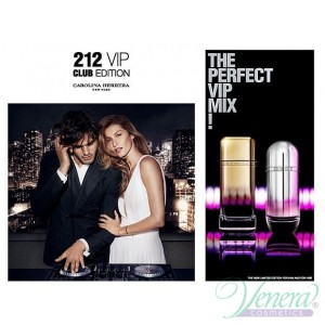 Carolina Herrera 212 VIP Club Edition EDT 80ml за Жени БЕЗ ОПАКОВКА