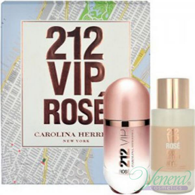 Carolina Herrera 212 VIP Rose Комплект (EDP 80ml+ BL 200ml) за Жени Дамски Парфюми