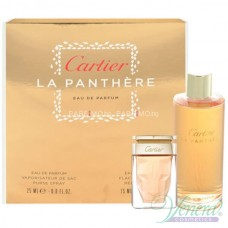 Cartier La Panthere Комплект (EDP 25ML + EDP 75ml Recharge) за Жени