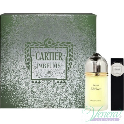 Cartier Pasha Set Комплект (EDT 100ml + EDT 9ml Pocket Spray) за Мъже