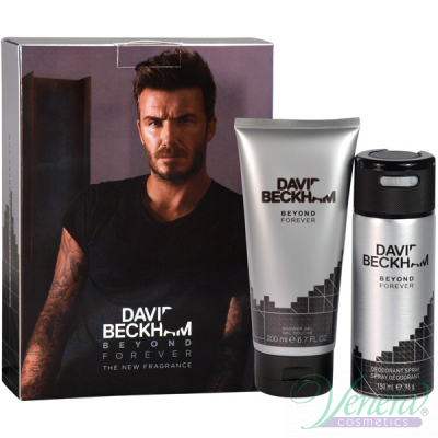 David Beckham Beyond Forever Комплект (Deo Spray 150ml + SG 200ml) за Мъже