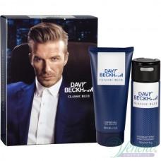 David Beckham Classic Blue Комплект (Deo Spray 150ml + SG 200ml) за Мъже