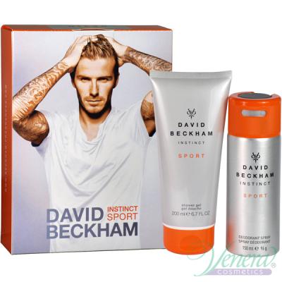 David Beckham Instinct Sport Комплект (Deo Spray 150ml + SG 200ml) за Мъже Мъжки Комплекти