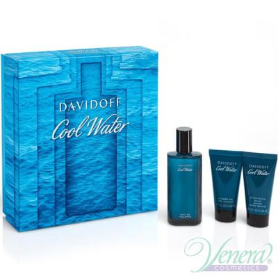 Davidoff Cool Water Set (EDT 75ml + AS Balm 50ml + SG 50ml) за Мъже Мъжки Комплекти