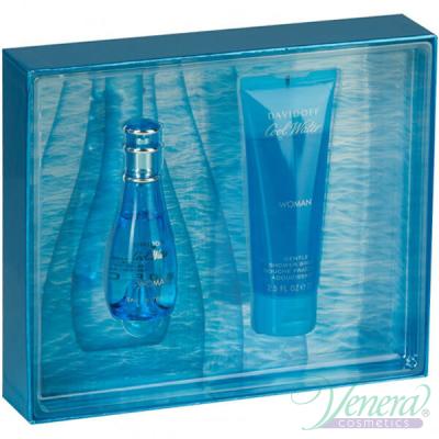 Davidoff Cool Water Комплект (EDT 30ml +Shower Gel 75ml) за Жени Дамски Комплекти