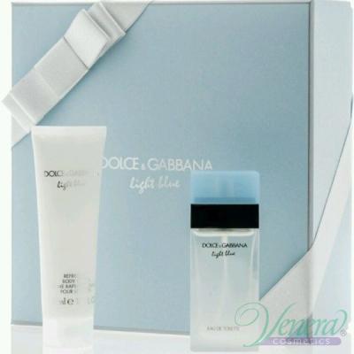 D&G Light Blue Комплект (EDT 25ml + Body Cream 50ml) за Жени За Жени