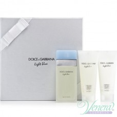 Dolce&Gabbana Light Blue Комплект (EDT 100ml + BL 100ml + SG 100ml) за Жени