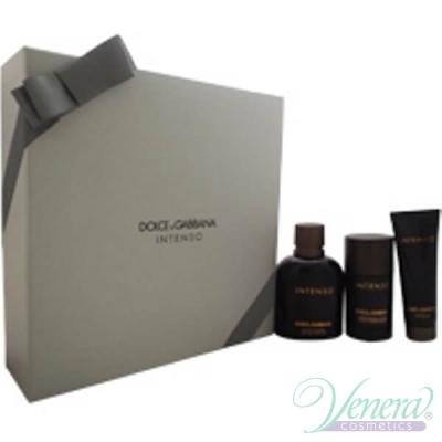 Dolce&Gabbana Pour Homme Intenso Комплект (EDP 125ml + Deo Stick 75ml +SG 50ml) за Мъже Мъжки Парфюми