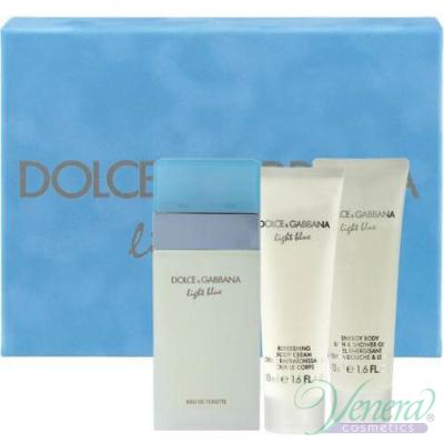 Dolce&Gabbana Light Blue Комплект (EDT 50ml + Body Cream 50ml + SG 50ml) за Жени