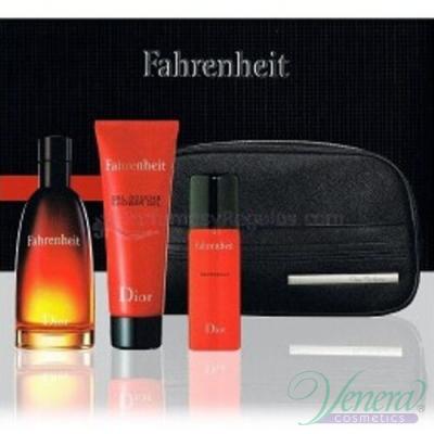 Dior Fahrenheit Set (EDT 100ml + SG 75ml + Deo 50ml + Bag) за Мъже За Мъже