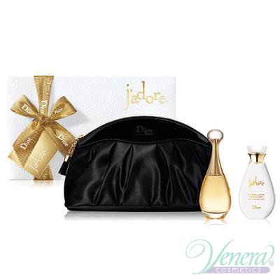 Dior J'adore Комплект (EDP 50ml + Body Lotion 75ml + чанта) за Жени За Жени