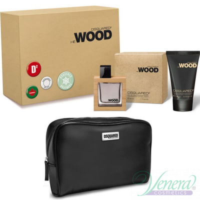Dsquared2 He Wood Комплект (EDT 50ml + Body Lotion 100ml + Bag) за Мъже За Мъже