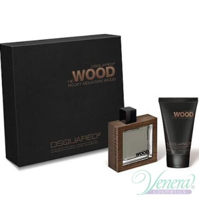 Dsquared2 He Wood Rocky Mountain Комплект (EDT 100ml + Shower Gel 100ml) за Мъже За Мъже